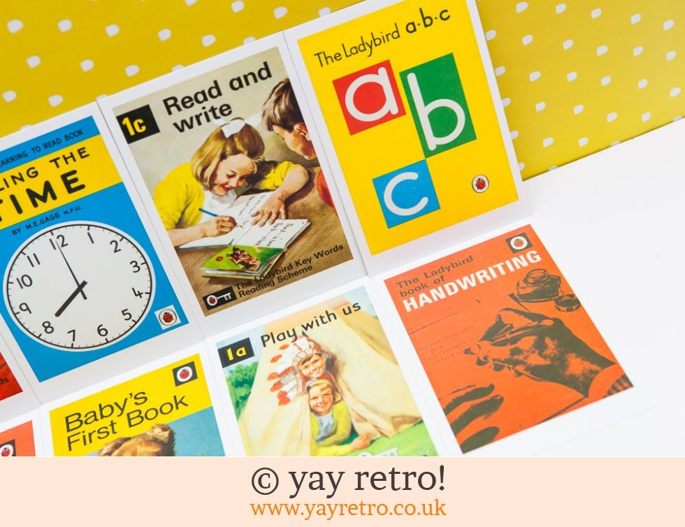 8 Ladybird Postcards (Learning) (£6.00)