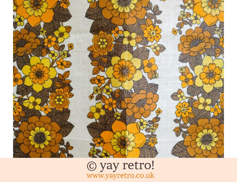 Flower Power 60/70s As New Tea Towel (£12.00)