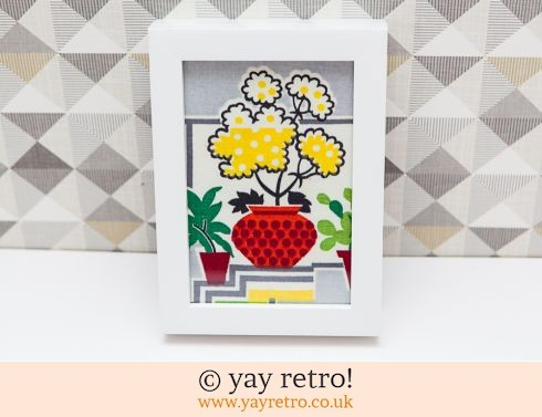 0: 1950s Houseplant Fabric Framed (£8.50)