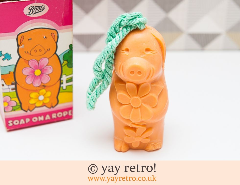 Boots: Vintage Piglet Soap on a Rope (£4.50)