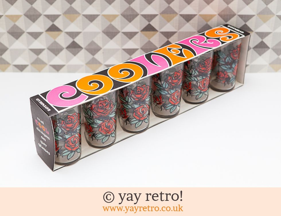 Stunning Boxed Set of Vintage Glasses 1960s (£16.95)