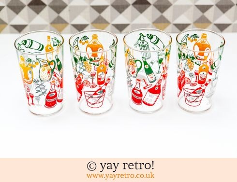 0: Vintage Cocktail Design Glasses 1960/70s (£15.50)