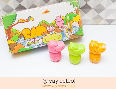 626: Vintage Avon Hippo Soaps - Fab Graphics! (£3.90)