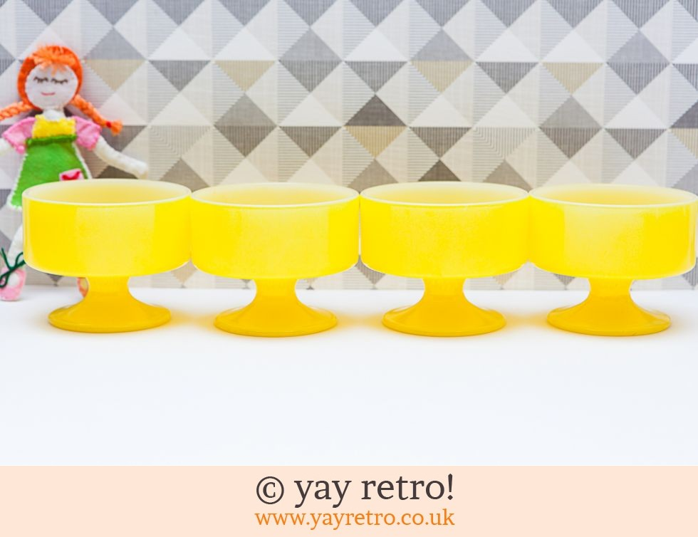 FireKing: Yellow  Fireking 70s Sundae Dishes (£17.00)