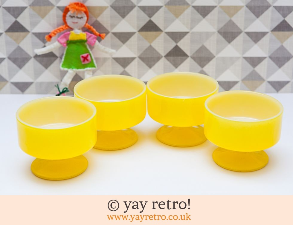 Yellow  Fireking 70s Sundae Dishes (£17.00)