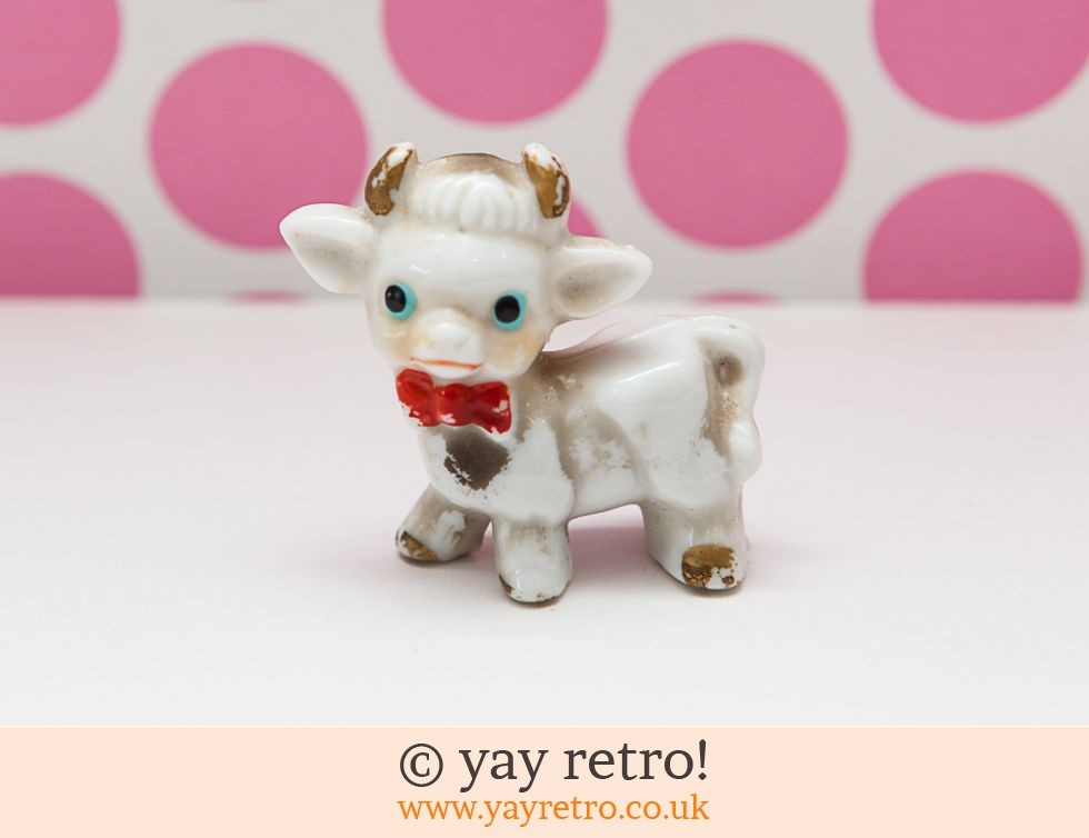 1950s Kitsch Cow with Dicky Bow Tie (£5.00)