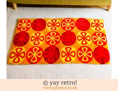 0: Best Ever Vintage Rug - Bright Red & Orange! (£55.00)
