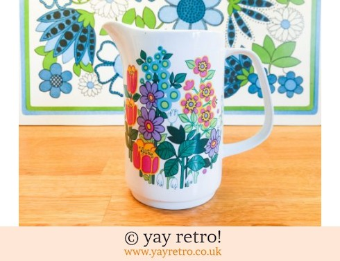 100: Very Rare Meakin Garden Party Tall Jug (£20.00)