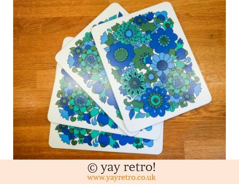 0: Vintage M&S Blue Flowery Table Mats (£24.00)