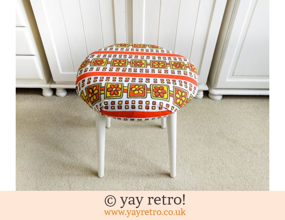 Flower Power Vintage Stool / Kitsch Side Table (£24.00)