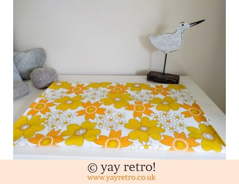 0: Stunning Vintage Cotton Flower Power Double Sheet (£28.50)