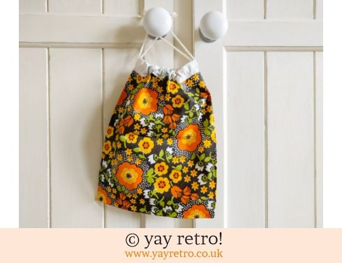 0: Vintage Plastic Drawstring Wash Bag - Unused (£9.50)