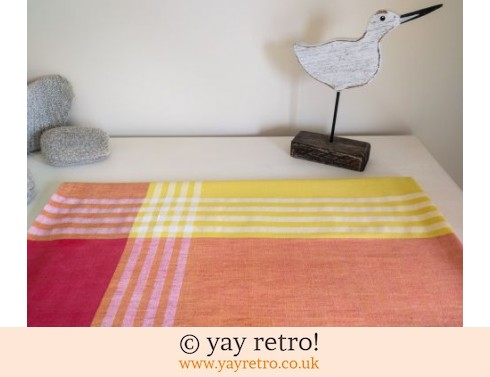 0: Vintage Yellow and Orange Tablecloth 50/60s (£5.50)