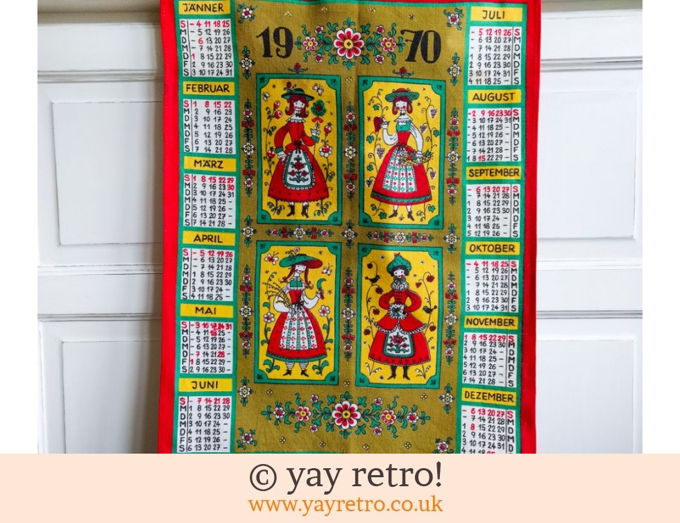Vintage Fabric 1970 Scandi Calendar Buy Yay Retro