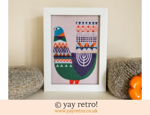 0: Fabric Scandi Bird Framed 7x5 (£10.25)