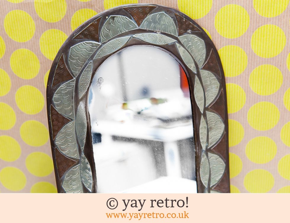 Vintage Handcrafted Metal Arched Mirror (£14.95)