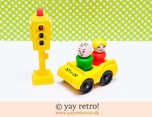 535: Vintage Fisher Price Taxi Driver Set (£9.50)