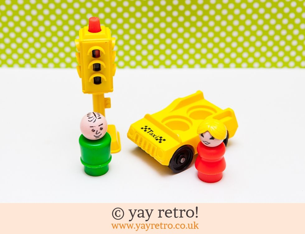 Vintage Fisher Price Taxi Driver Set (£6.00)
