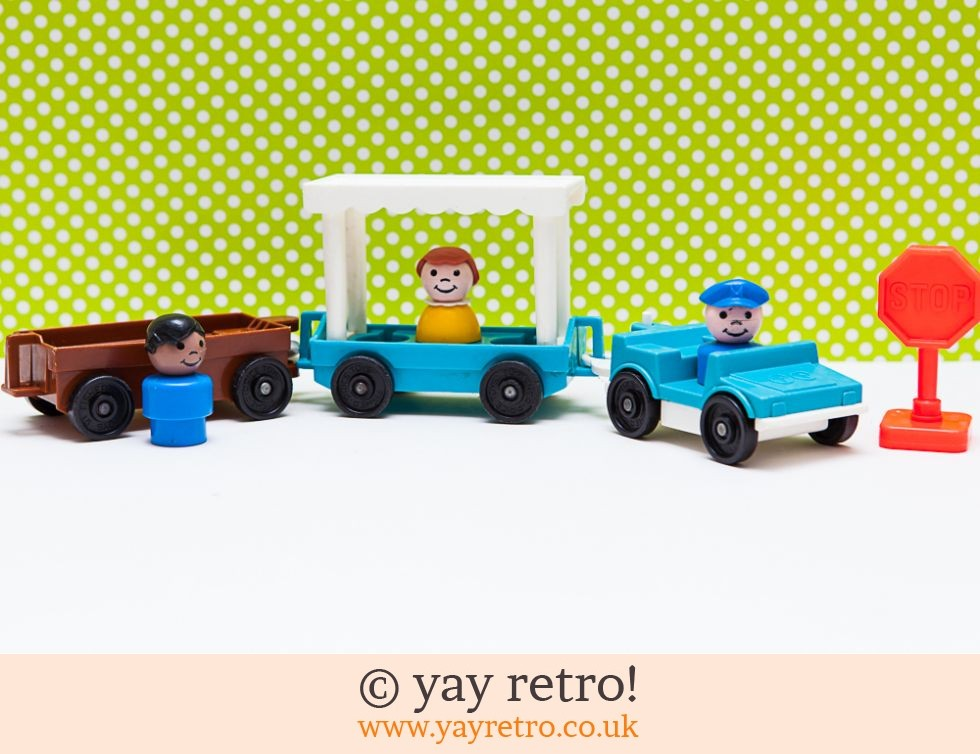 Fisher Price: Vintage Fisher Price Car, Trucks & People Set (£11.50)