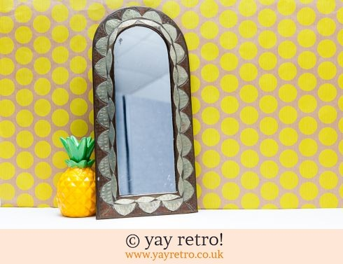 0: Vintage Handcrafted Metal Arched Mirror (£12.00)