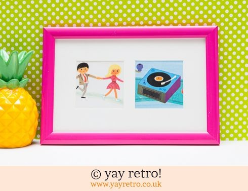 0: Framed Alain Grée 1971 Record Player Pictures (£9.75)