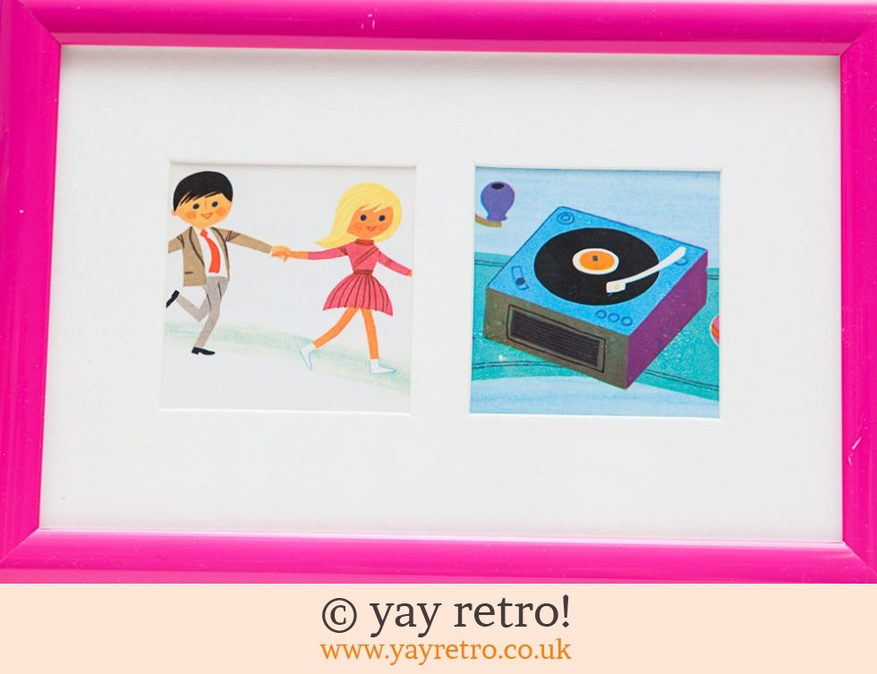 Framed Alain Grée 1971 Record Player Pictures (£9.75)