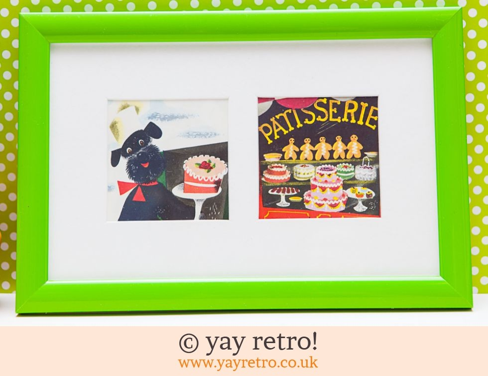 French Poodle 1962 Kitsch Framed Pictures (£6.00)