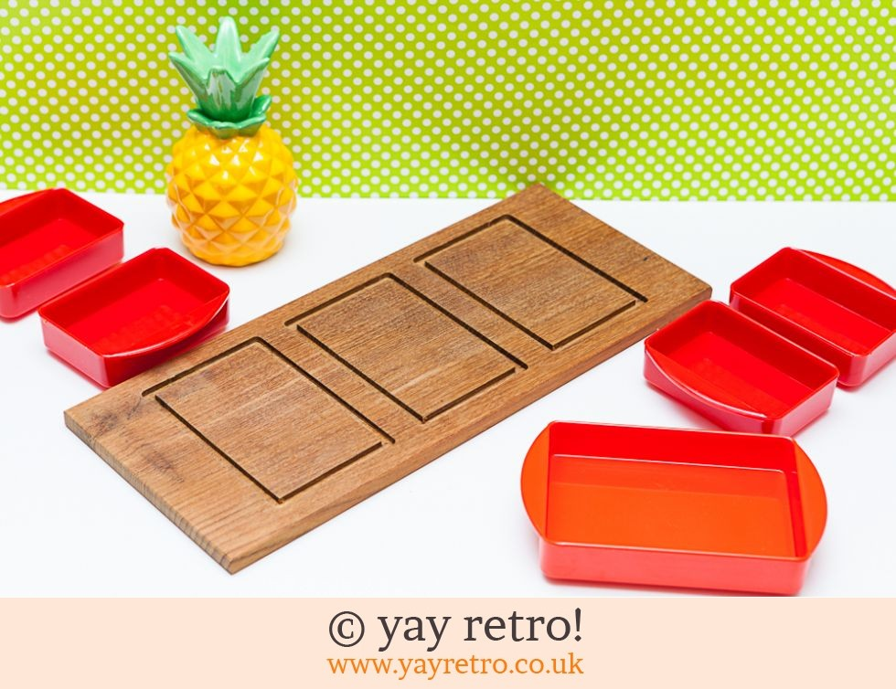 Teak Danish Snack Set 70s (£17.50)
