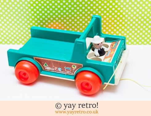 535: Fisher Price Vintage Flatbed Truck/ Camper van Base (£8.00)