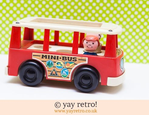 535: Fisher Price 1969 Mini Bus With Happy Couple (£16.50)