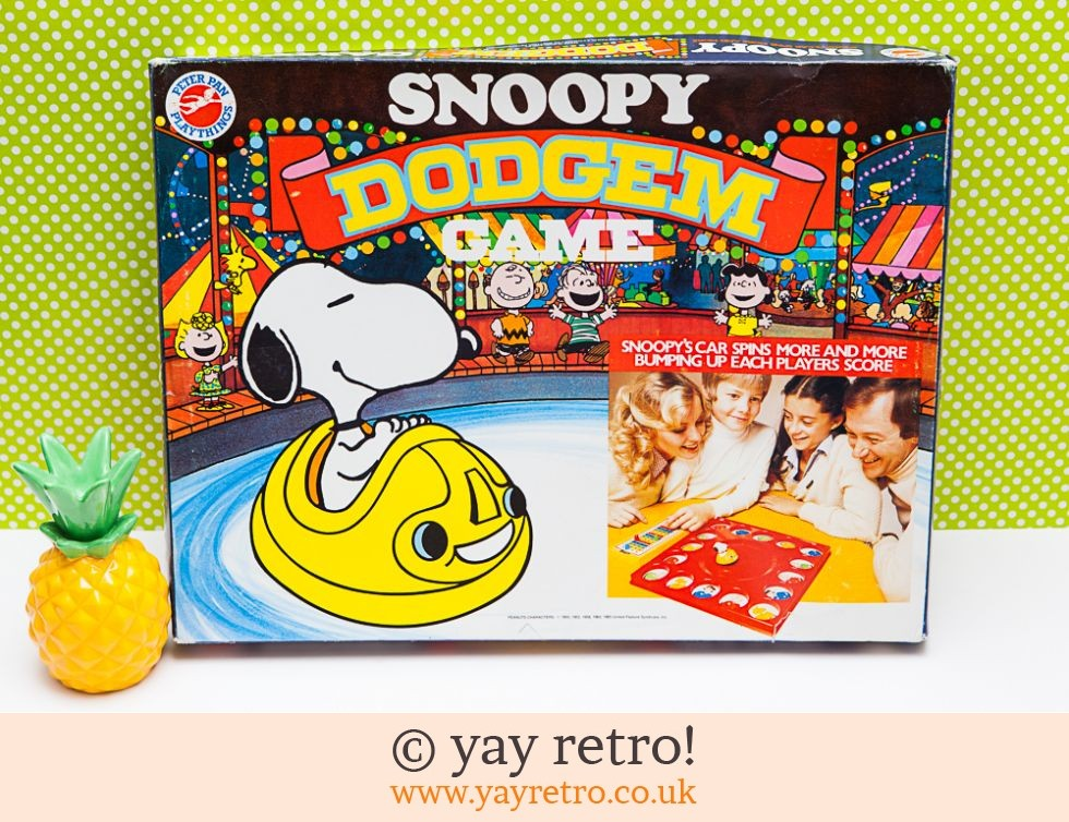 Peter Pan: Snoopy Dodgem Game 1970s (£15.50)