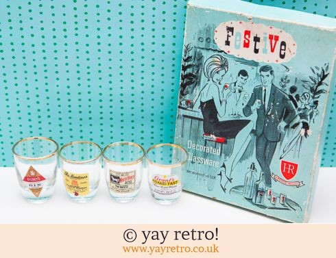 621: Vintage Shot Glasses in Fab Box (£9.00)