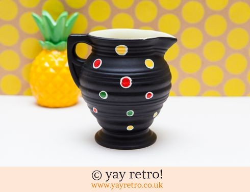 623: Black 1950s Polka Dot Jug (£9.25)
