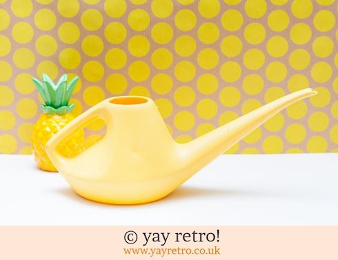 0: Bright Yellow Vintage Watering Can (£7.50)