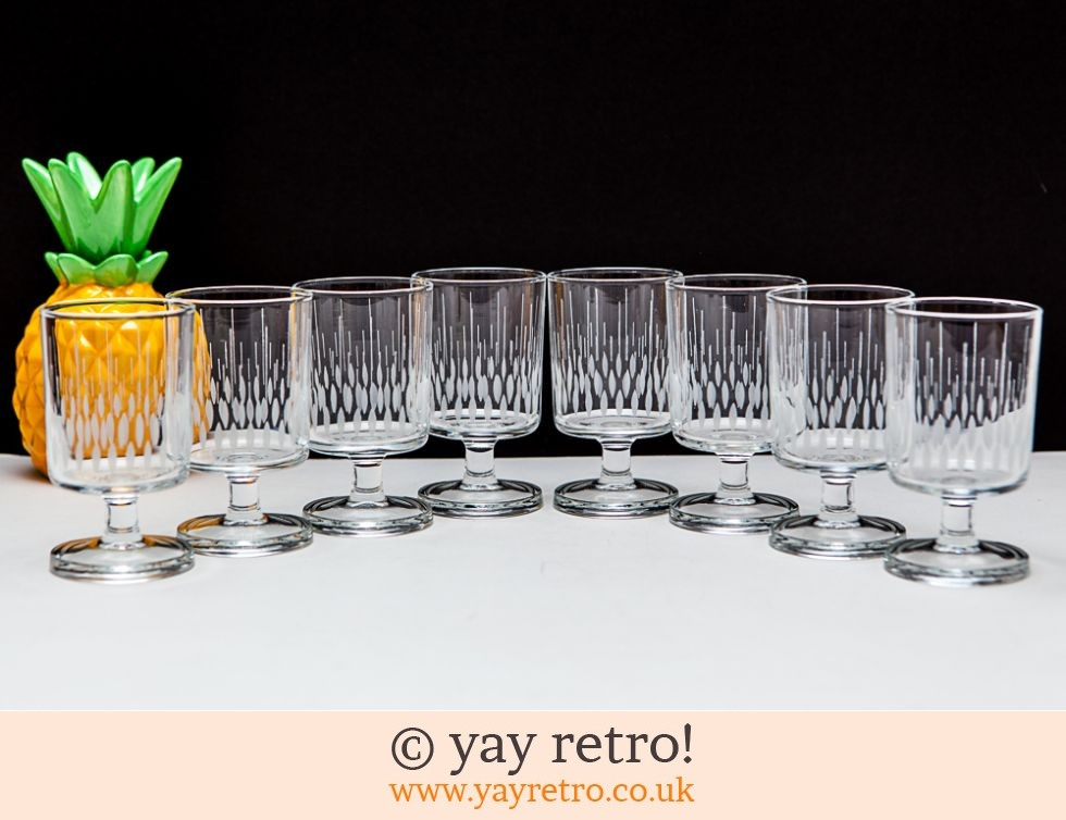 Vintage 70s Etched Petal Glasses (£9.00)