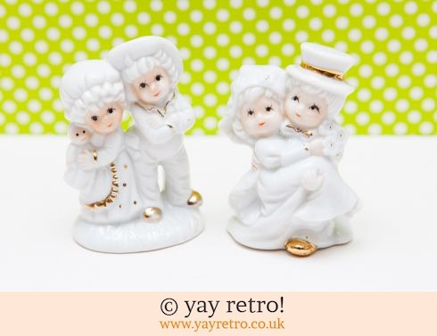 Kitsch Couple Ornaments Ideal Cake Decorations? (£4.00)