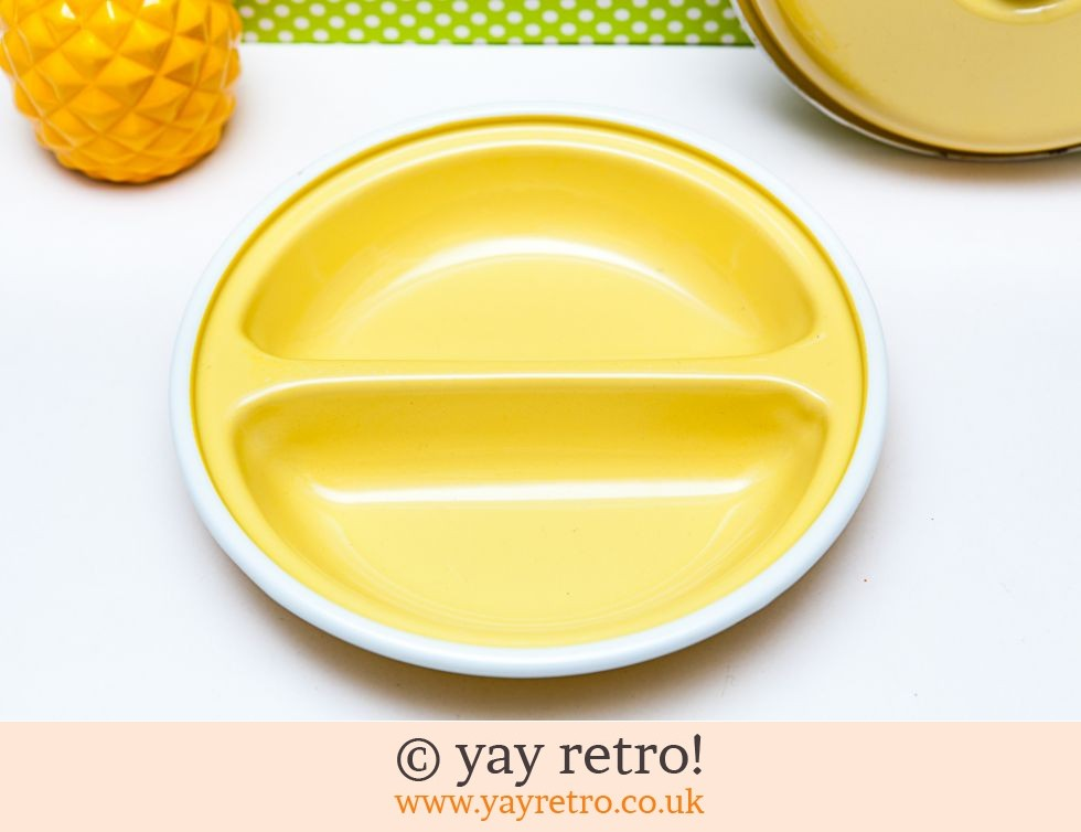 Yellow Enamel Vintage Lidded Dish (£10.00)