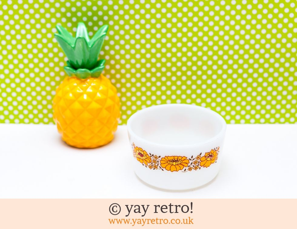 Orange Flowery Pyrex Bowl (£9.50)