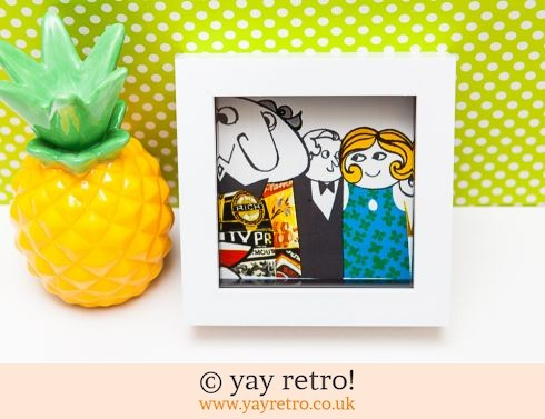 0: Vintage 1967 Quirky Gathering Illustration Framed 4x4 (£8.90)