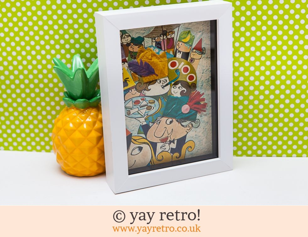 Vintage 1967 Party Illustration Framed 7x5 (£8.90)