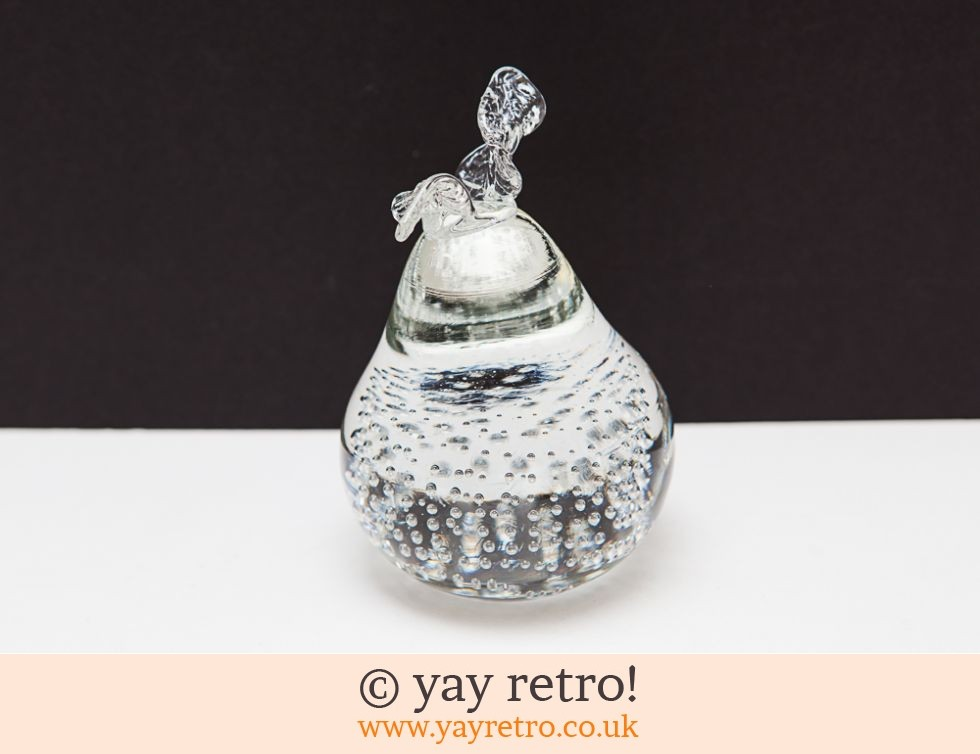Glass Pear Ornament Paper Weight (£4.00)