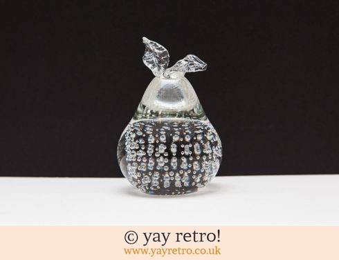 0: Glass Pear Ornament Paper Weight (£4.00)