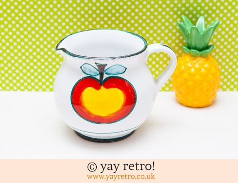 611: Happy Apple Pitcher Jug Italy (£12.95)