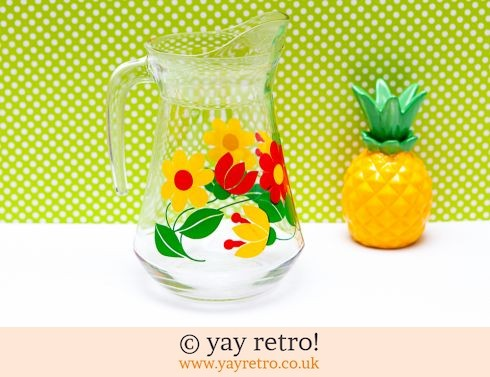 0: Flower Power Glass Juice Jug (£18.50)