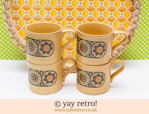 84: 4 Flower Power Mugs + Free Bowl! (£7.50)