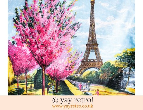 Vintage Paris Tea Towel 1950s (£15.95)