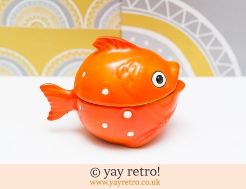 321: Rare Goebel Goldfish Lidded Pot (£23.50)