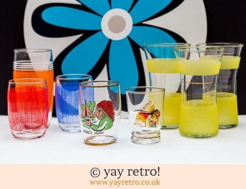 0: 1950/60s Party Pack of 8 Glasses (£12.00)
