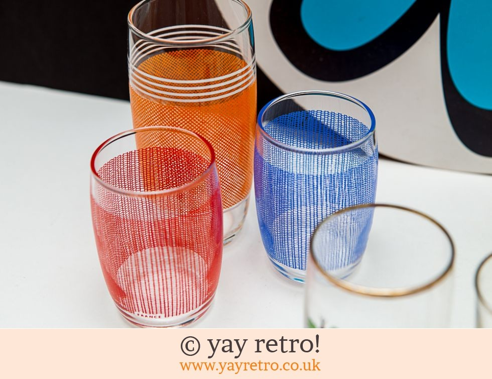 1950/60s Party Pack of 8 Glasses (£16.50)