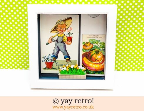 0: Vintage Gardening Collectables Framed Artwork (£7.00)